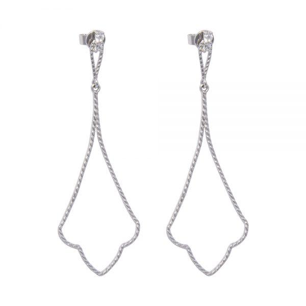 Art Deco silver cubic zirconia earring