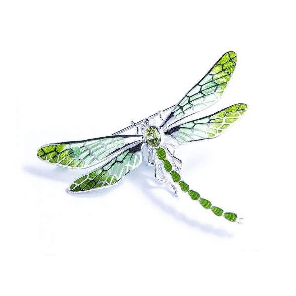 Green Dragonfly Brooch