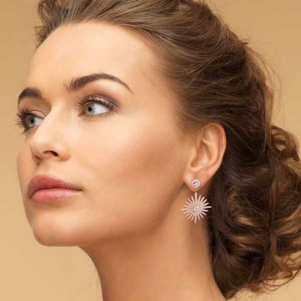 Rose Gold Plated Silver Star Earrings