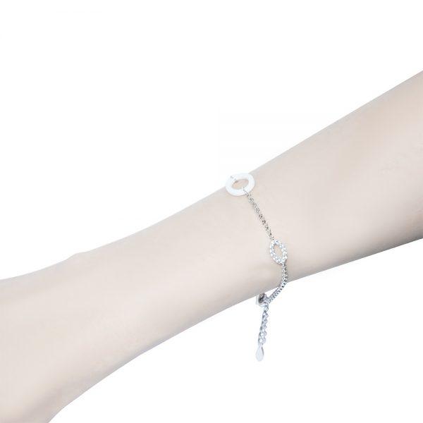 White Ceramic Chain Bracelet