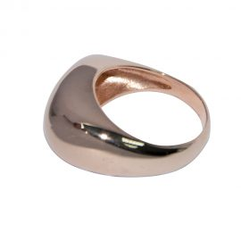 Contemporary Rose Gold Finish Ring