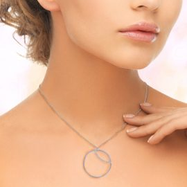 Silver Circle Pendant Necklace