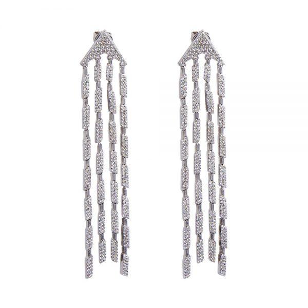 Cubic zirconia Silver drop earrings