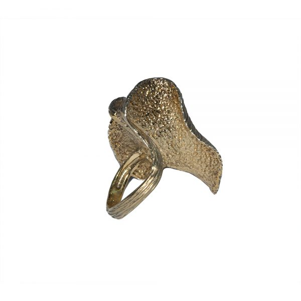 Gold Plated Leaf Ring