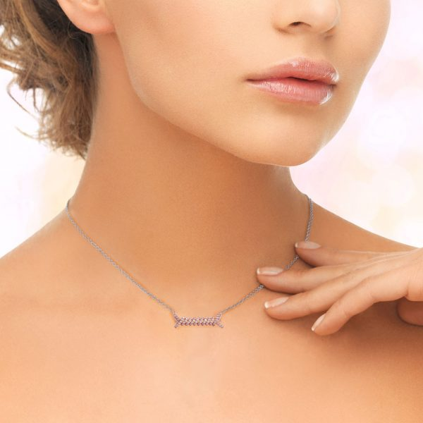 Rose Gold Plated Silver Pendant Necklace