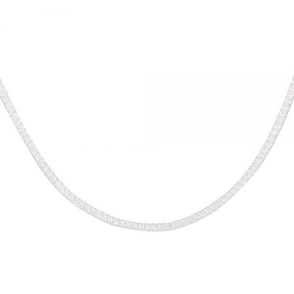 Flexible Stainless Steel Mesh Necklace 2.5mm