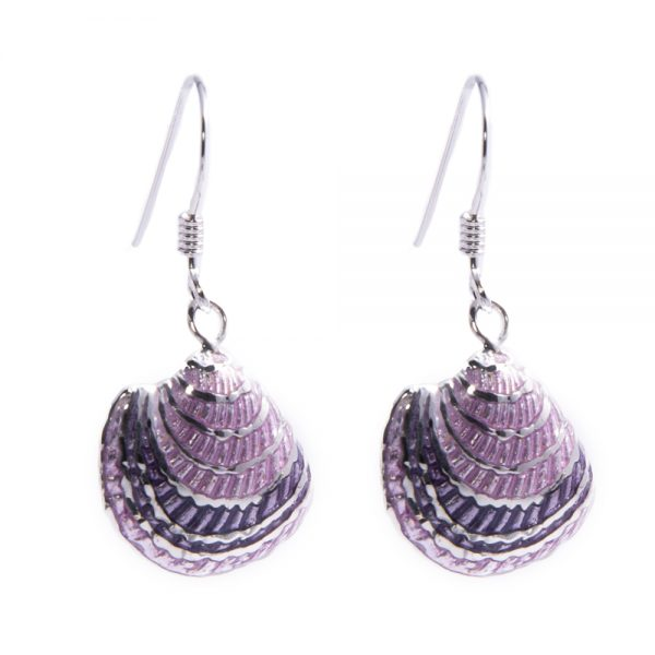 Lilac Seashell Earrings