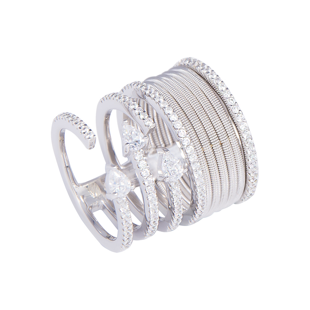 wide silver ring with cubic zirconia sarahgargash