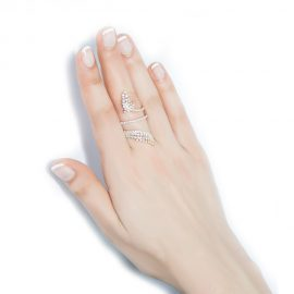 Rose Gold plated Silver Cubic Zirconia Ring