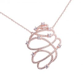 Shop designer necklace for ladies online at sarah gargash contemporary style rose gold plated silver pendant aloadofball Image collections