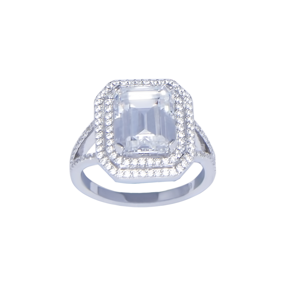 emerald cut cubic zirconia ring sarah gargash