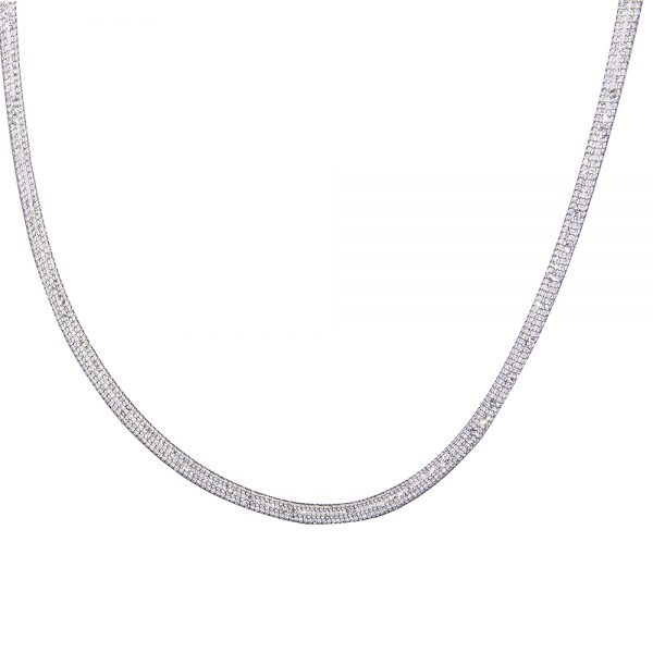 Flexible Stainless Steel Mesh Necklace 3mm