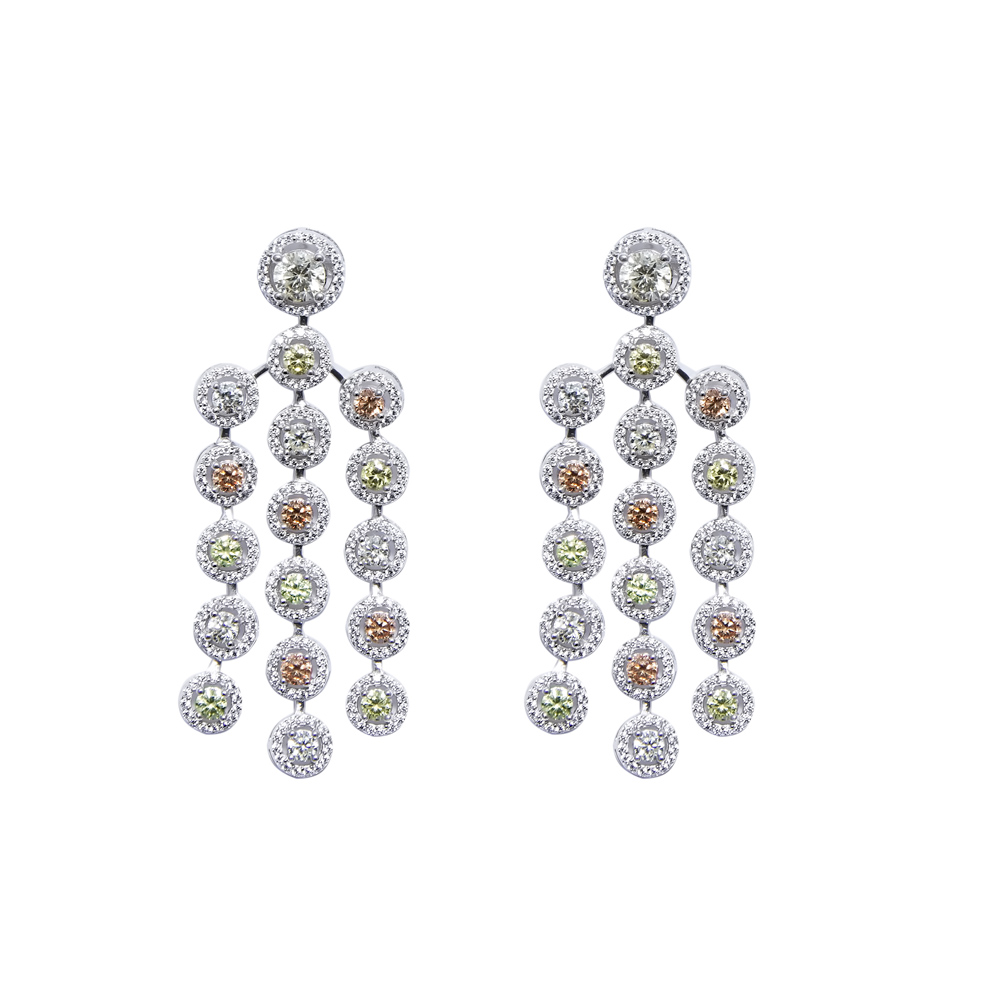 Multi Color Yellow Cz Chandelier Earring Sarah Gargash – Cz Chandelier Earrings