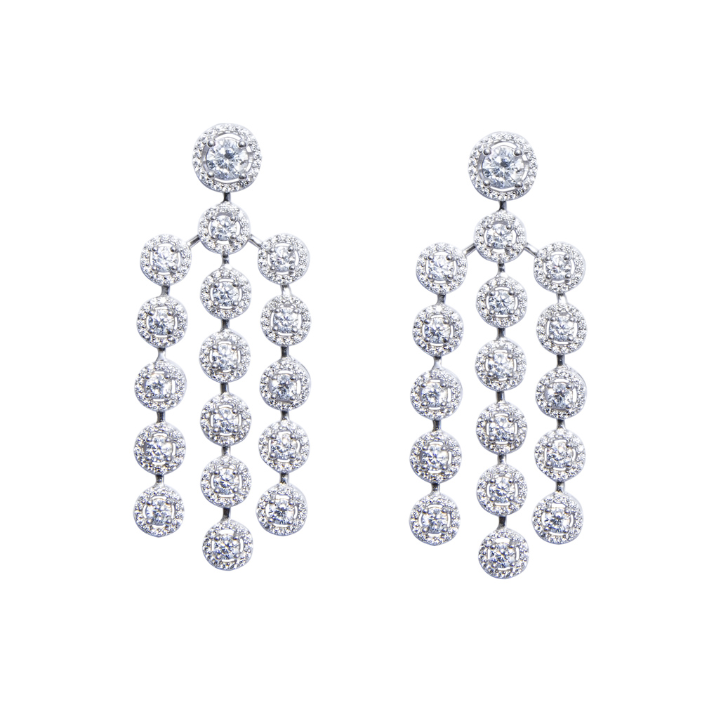 White Color Cz Chandelier Earring Sarah Gargash – Cz Chandelier Earrings